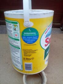Sandtex paint 5 litre white bean opened