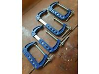 G Clamp- Adjustable 75mm to 150mm.