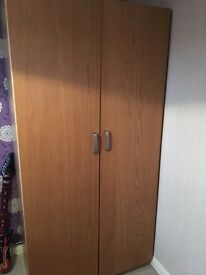 2 x Single Ikea Pax Wardrobes with drawers