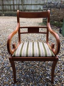 Yew carver dining room chair