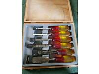 Marples chisel set, 6 chisels used but good condition