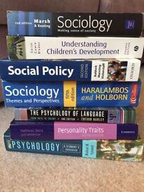 Psychology and Sociology University Textbooks