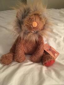BNWT Le Roty Moulin cuddly toy lion
