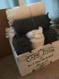 Winter fleece throws