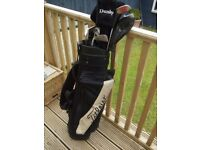 Set of golf clubs and bag