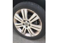 225/45/17 alloy wheels with tyres fits Vauxhall Astra zafira vectra etc