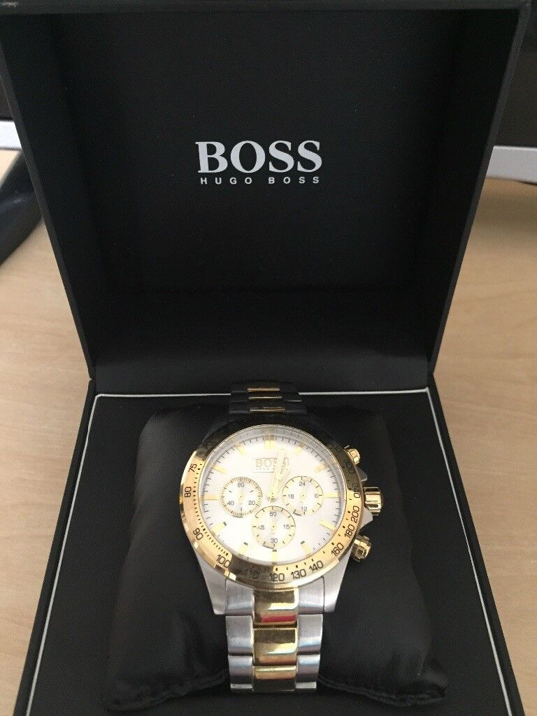 78de8e0c0548 Hugo boss 1512690 Silver and Gold Watch