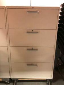 Teknion 4 Drawer Lateral Filing Cabinet - White - $279