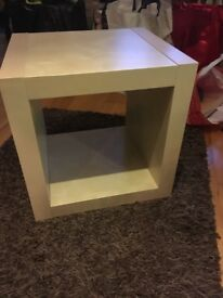 Two ikea beech coffee table cubes