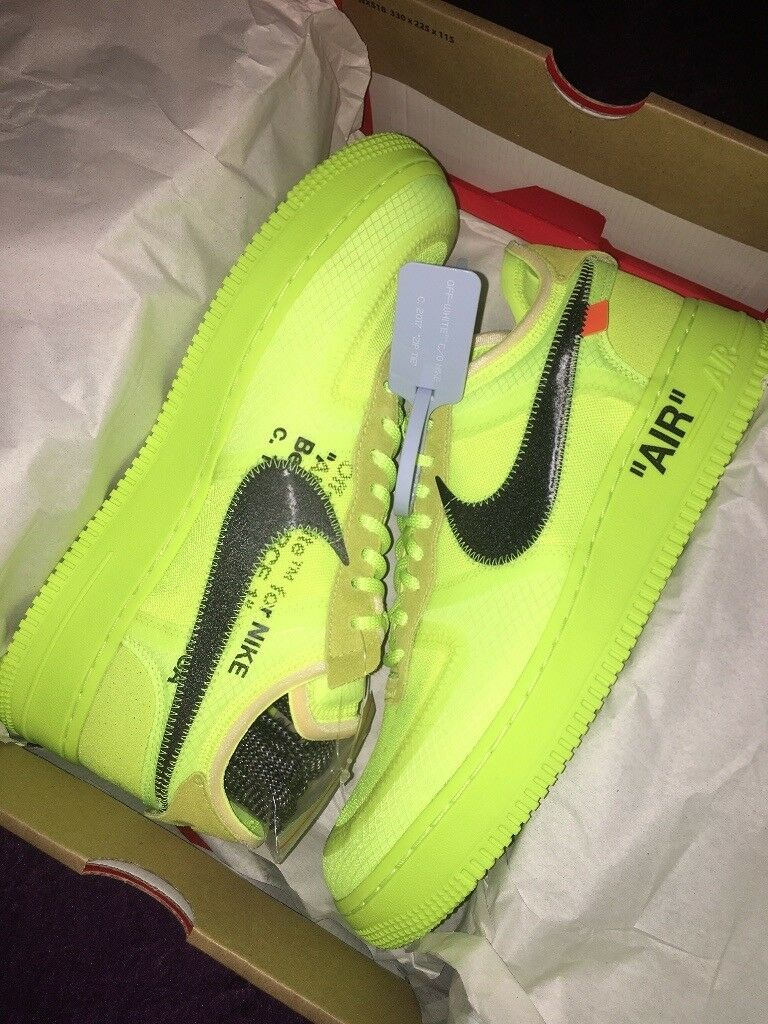 free shipping b4cca 79b9a Nike Air Force 1 Low Off-White Volt size UK 9