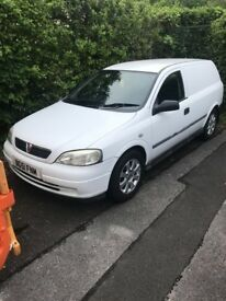 Vauxhall astra van 1.6 petrol an gas 12m mot clean tidy van bin looked after