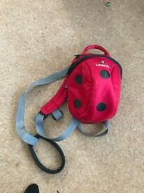 Littlelife back pack reins ladybird