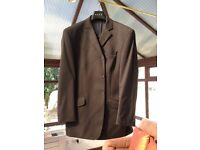 Black Single Breasted 3 button Mens Suit
