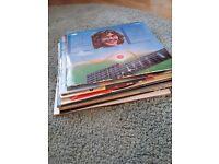 Pile of vinyl records