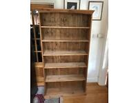 Stunning Old English Solid Pine Full Height Bookcase