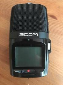 Zoom h2n recorder with accessories