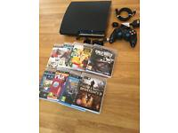 320gb SLIM PS3 CONSOLE with 9 GAMES £60 no offers (PlayStation 3)