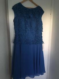 Navy Blue formal dress and jacket Size 22