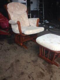 Dutailer glider nursing chair and stool