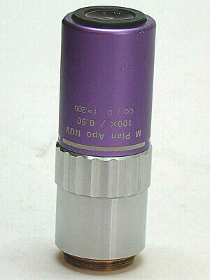 Mitutoyo M Plan Apo 100x Nuv Objective. Excellent Optical Condition.