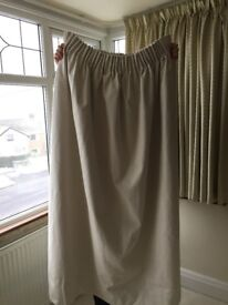 Pair of made-to-measure Dunelm Mill Curtains in Savanna fabric with Blackout Lining