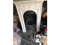 Vintage cast iron fire place
