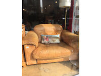 Retro Leather Armchair - Large chair - Size W 41in x D 34 in.
