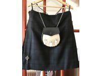 Traditional 8 Yard Black Isle Kilt (16oz Heavy Weight wool) made in Scotland plus accessories
