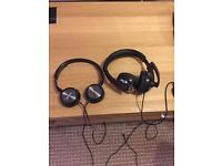 Sony mdrzx300+Kama pc headset with microphone