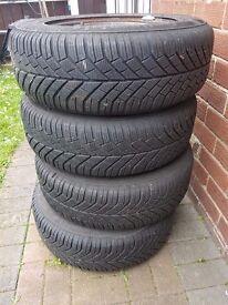 Winter Tyres - 195/65 R15 95T - Continental TS830 - On Citroen Berlingo/ Peugeot Partner Steel Rims