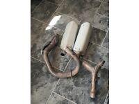 Crf 450 twin pipe