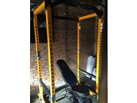 Powertec power cage and bench