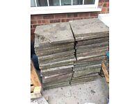 40 X Redundant Paving Slabs Shed Base Hardstanding
