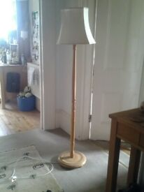 Standing lamp. Simple design with old shade.