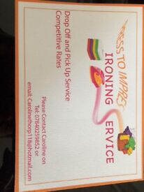 Pick up/drop off ironing service