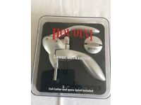 Houdini Corkscrew Set with foil cutter and spare spiral - boxed