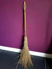 Adult wooden broom
