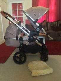 iCandy Peach 3 2016 Butterscotch Double Pram Pushchair CAN POST