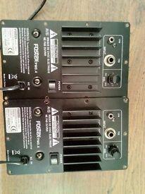 { 2 x FOSTEX PM0.4 Bare amps no cabinets }