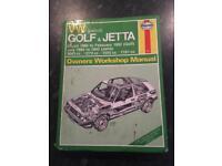 Haynes Manual VW Golf Jetta