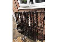 Double metal front drive gate