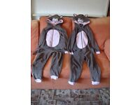 TWO ZOOZI ONESIES AGE 9 - 10 YEARS.
