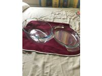 OVAL PYREX DISH WITH LID