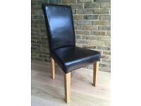 4 Multiyork faux leather dining chairs