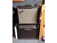 Guitar amps - Fender Princeton and Peavey Studio Pro - both 1x12 speakers.