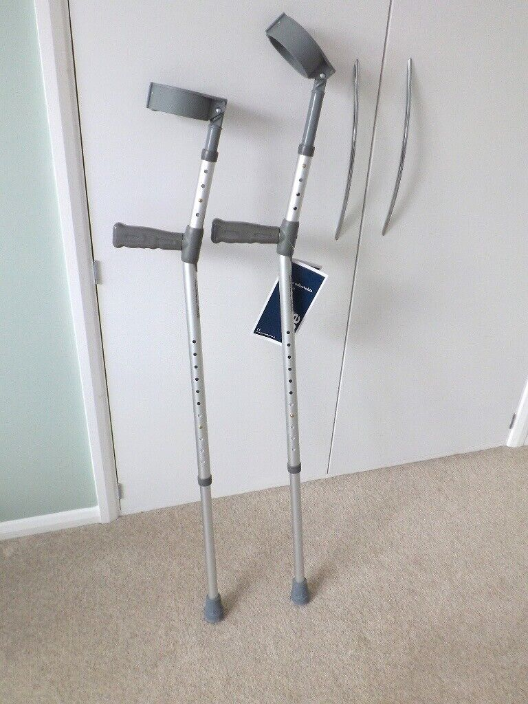 Adult adjustable crutches- as new  | in Brighton, East