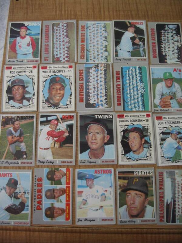Lot Of 100 Assorted 1970 Topps Baseball Cards Stars-hofers-rookies Etc