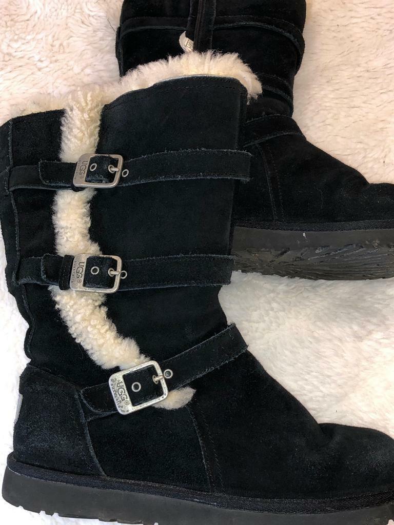 Genuine black UGG Boots uk size 4. Liverpool ... d0dedc76e
