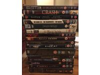 16 dvds, 20 films and 3 concerts, £10