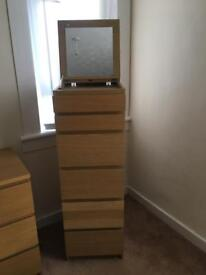 Chest of drawers & tall boy
